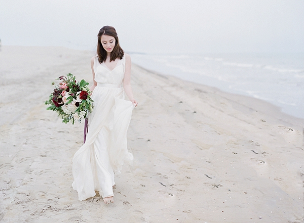 Bride   A Coastal Editorial Inspired by Shakespeare from Julie Michaelsen Photography
