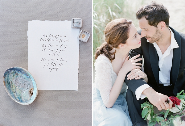 Calligraphy   A Coastal Editorial Inspired by Shakespeare from Julie Michaelsen Photography