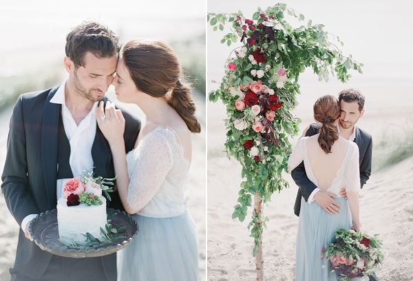 One Tier Wedding Cake   A Coastal Editorial Inspired by Shakespeare from Julie Michaelsen Photography