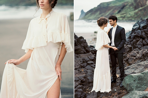 Bride and Groom | Moody Seaside Bride and Groom Session in Tenerife Spain by Kseniya Bunets Photography and Wedding and Events by Natalia Ortiz