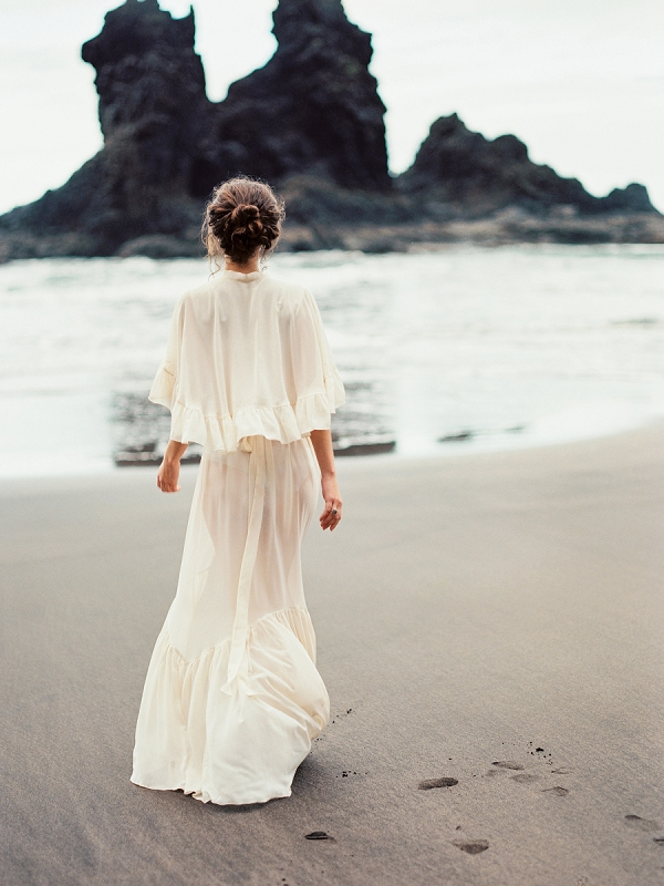 Bride | Moody Seaside Bride and Groom Session in Tenerife Spain by Kseniya Bunets Photography and Wedding and Events by Natalia Ortiz