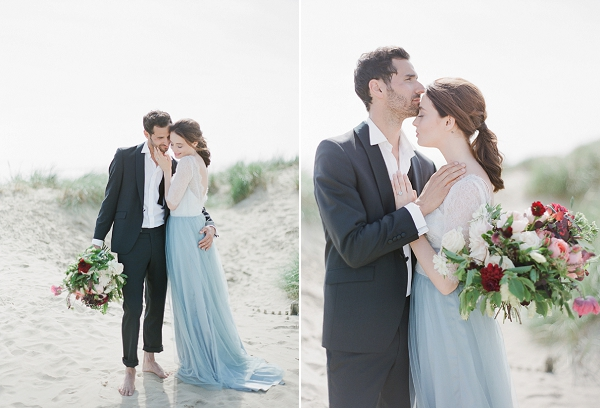 Bride and Groom Elopement Ideas   Romantic Coastal Editorial Inspired by Shakespeare from Julie Michaelsen Photography