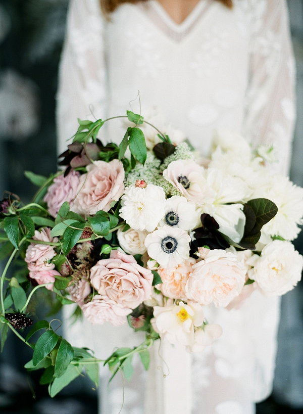 Anemone and Rose Bouquet | Floral Inspired Wedding Ideas from Kristen Beinke Photography