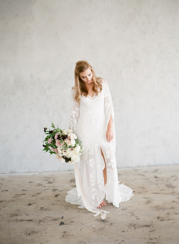 Bride with Bouquet | Floral Inspired Wedding Ideas from Kristen Beinke Photography
