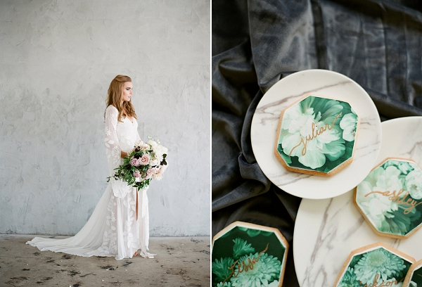 Calligraphy Cookies | Floral Inspired Wedding Ideas from Kristen Beinke Photography
