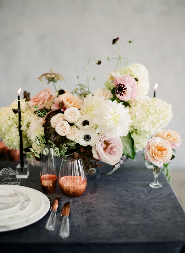 Place Setting | Floral Inspired Wedding Ideas from Kristen Beinke Photography