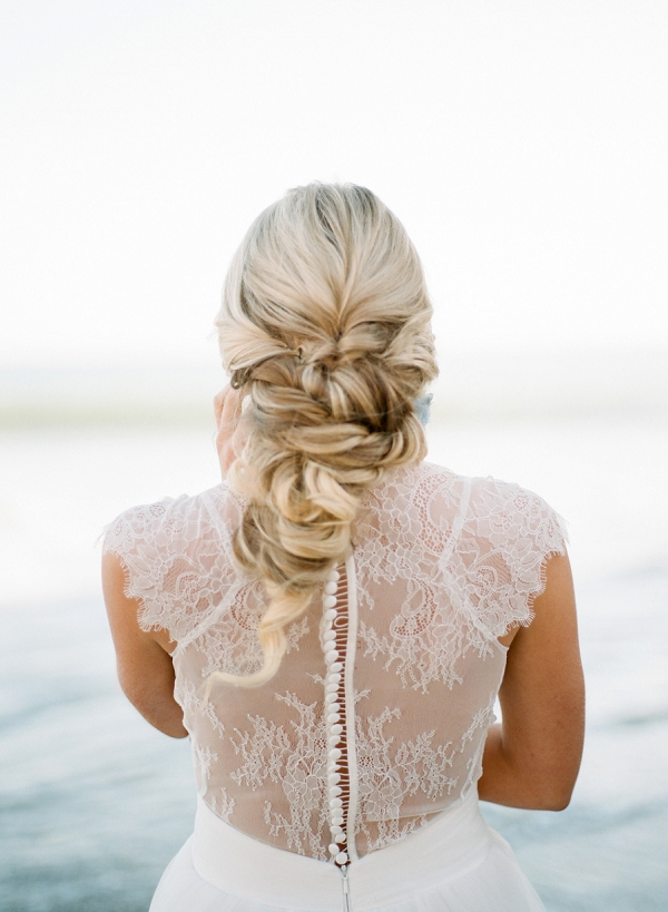 Beach Wedding Hairstyle | Malibu Seaside Inspired Bridal Editorial by Jeremy Chou Photography
