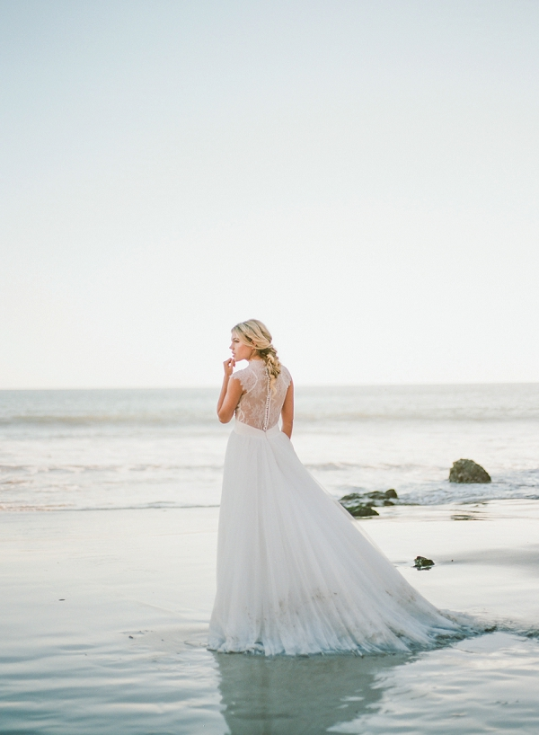 Wedding Dress | Malibu Seaside Inspired Bridal Editorial by Jeremy Chou Photography