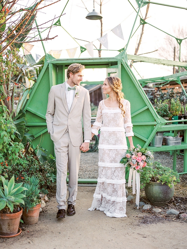 Vintage Inspired Bride and Groom | Romantic Farm To Table Wedding Ideas by Savan Photography