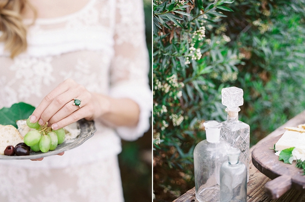 Fruits and Cheeses Served at the Wedding | Romantic Farm To Table Wedding Ideas by Savan Photography