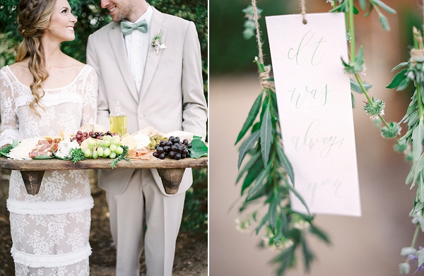 Hanging Love Notes with Herbs | Romantic Farm To Table Wedding Ideas by Savan Photography