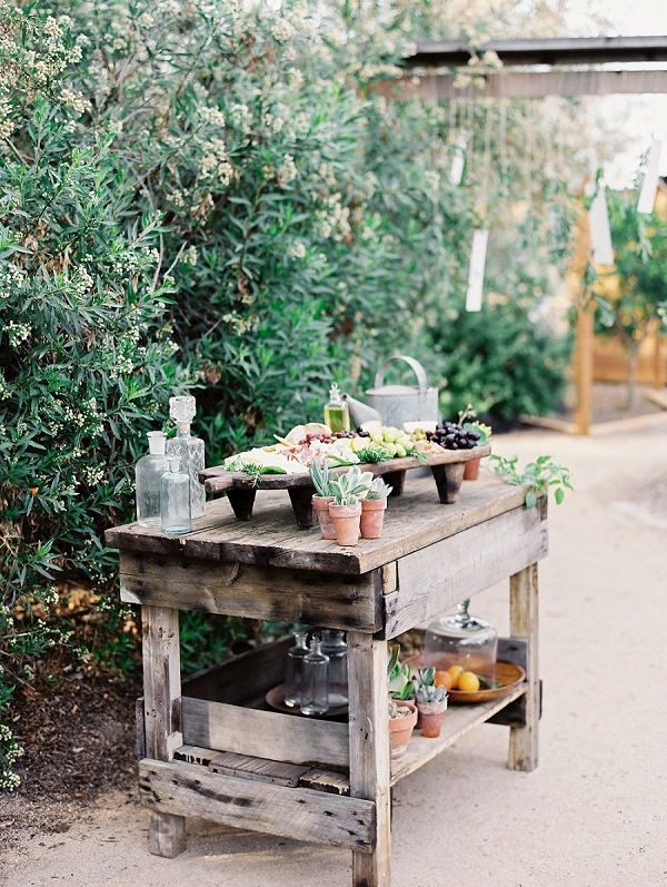 Wedding Fruit and Cheese Board | Romantic Farm To Table Wedding Ideas by Savan Photography