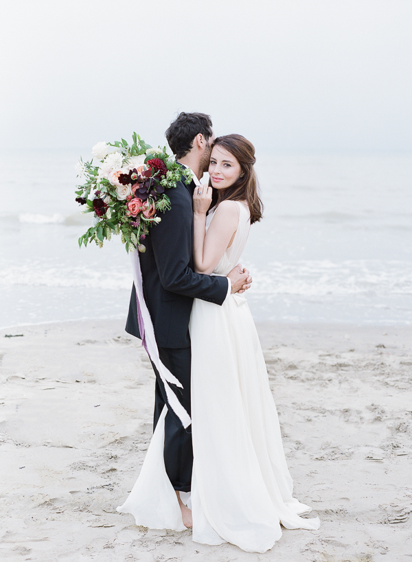 Coastal Elopement   Romantic Coastal Editorial Inspired by Shakespeare from Julie Michaelsen Photography