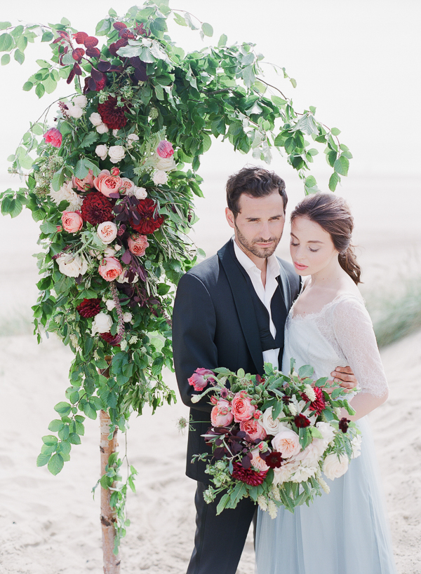 Wedding Ceremony Arbor   Romantic Coastal Editorial Inspired by Shakespeare from Julie Michaelsen Photography