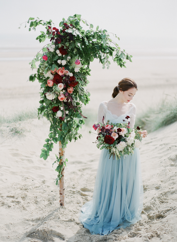 Romantic Wedding Floral Design   Romantic Coastal Editorial Inspired by Shakespeare from Julie Michaelsen Photography