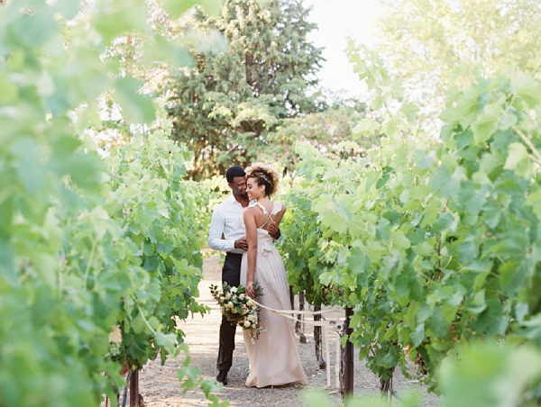 Bride and Groom Portraits in a Vineyard | Romantic Vineyard Elopement Inspiration by Gaby J Photography