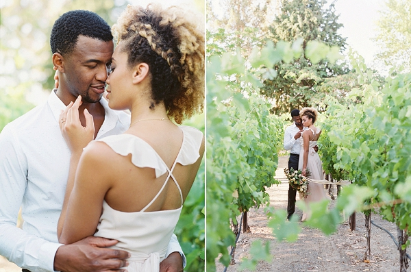 Bride and Groom Portraits | Romantic Vineyard Elopement Inspiration by Gaby J Photography