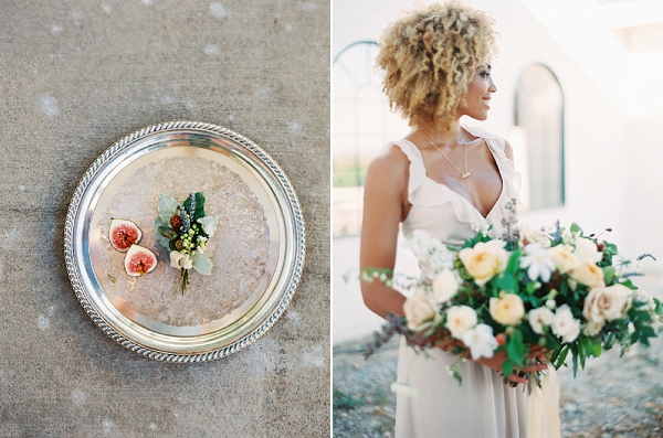 Textured Boutonniere | Romantic Vineyard Elopement Inspiration by Gaby J Photography