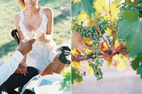 Bride and Groom Toasting | Romantic Vineyard Elopement Inspiration by Gaby J Photography