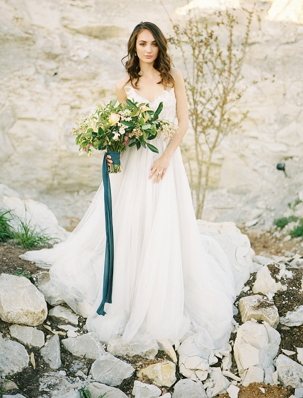 Bride with Bouquet | Rustic and Organic Wedding Inspiration from Keestone Events and Ben Q Photography