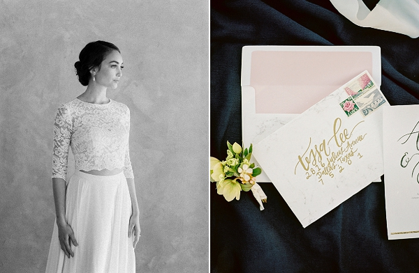 Calligraphy Invitations | Rustic and Organic Wedding Inspiration from Keestone Events and Ben Q Photography