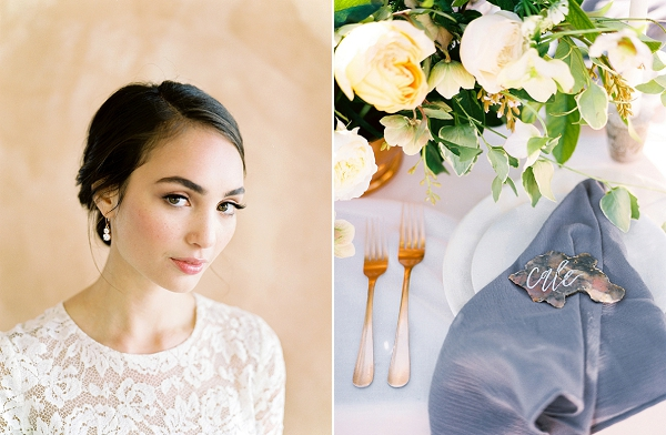 Elegant Bridal Makeup | Rustic and Organic Wedding Inspiration from Keestone Events and Ben Q Photography