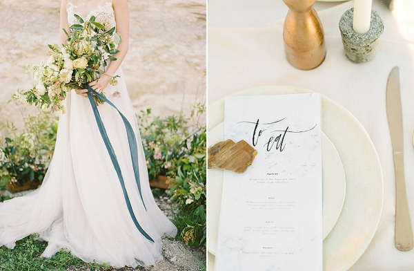 Modern Place Setting | Rustic and Organic Wedding Inspiration from Keestone Events and Ben Q Photography