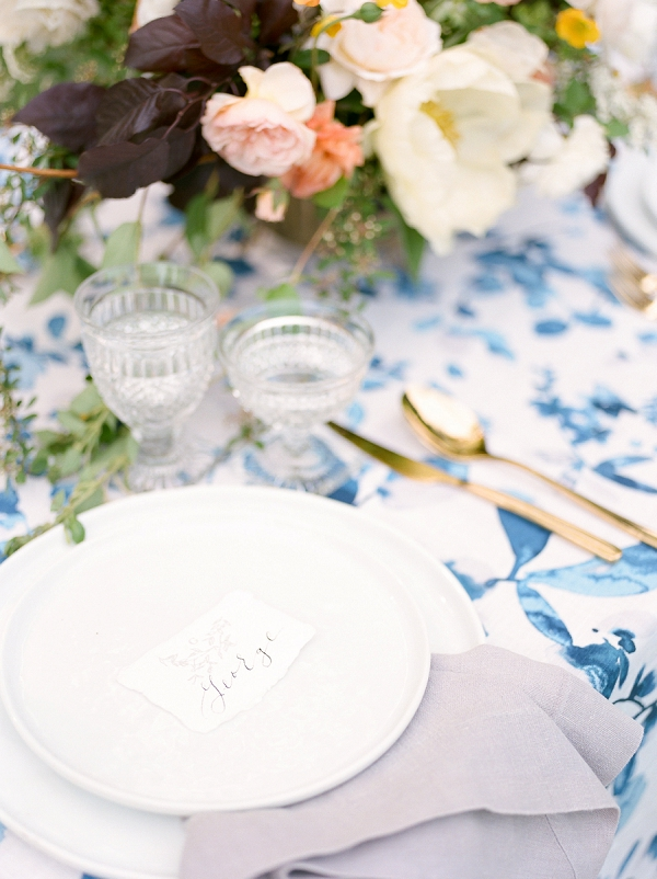 Calligraphy Place Cards | Summer Garden Wedding Inspiration from Kate Anfinson Photography and Gigi Mallatt Events