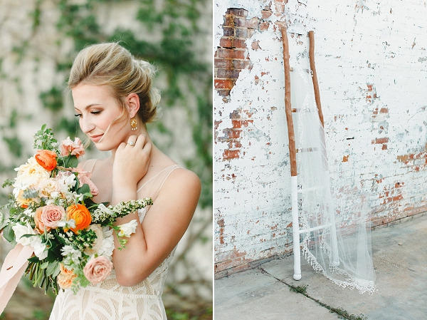 Bride   Summer Wedding Inspiration With An Industrial Vibe from Kate Pease Photography and Grit + Gold Weddings