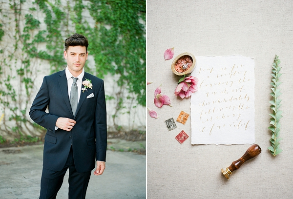 Summer Groom   Summer Wedding Inspiration With An Industrial Vibe from Kate Pease Photography and Grit + Gold Weddings