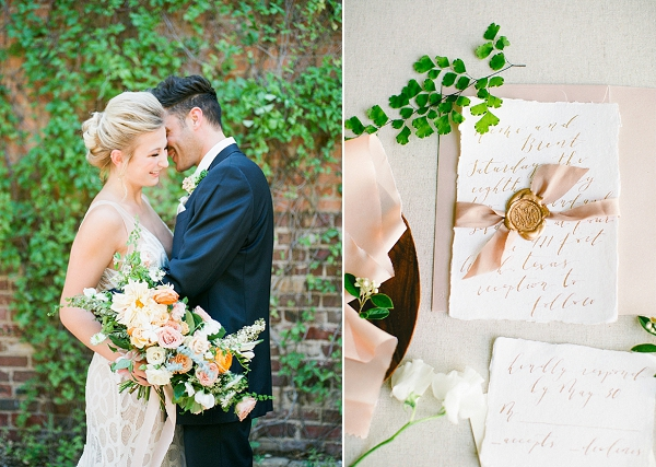 Elegant Calligraphy   Summer Wedding Inspiration With An Industrial Vibe from Kate Pease Photography and Grit + Gold Weddings