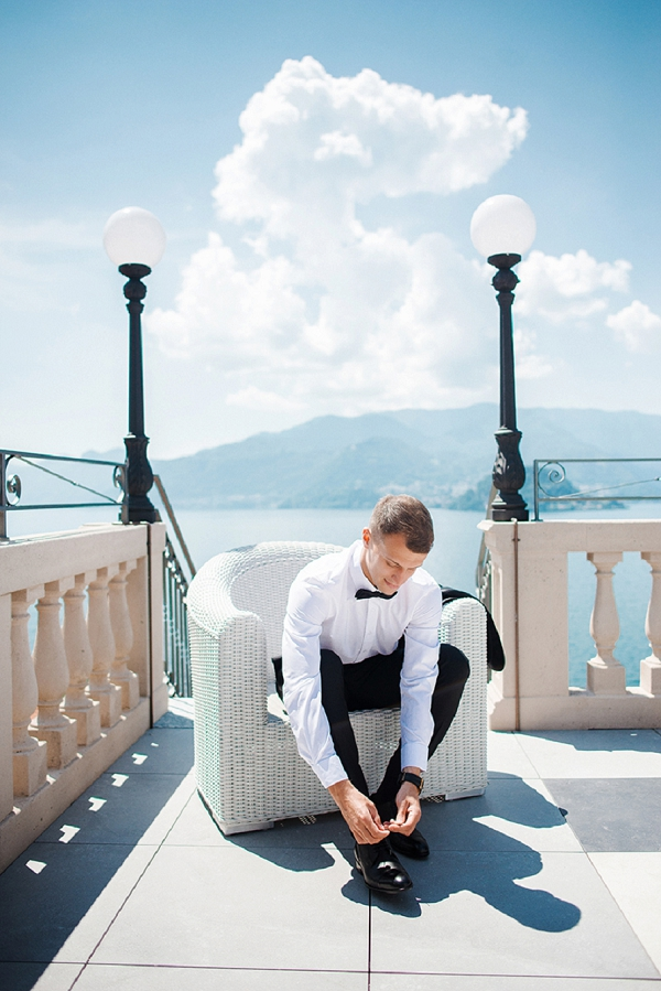 Groom Getting Ready | A Sunny Wedding Celebration In Lake Como from WeddItaly and Olena Galaziuk Photography