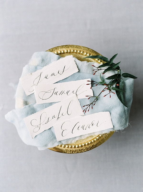Calligraphy Place Cards | Modern Classic Wedding Ideas from Kristine Herman Photography