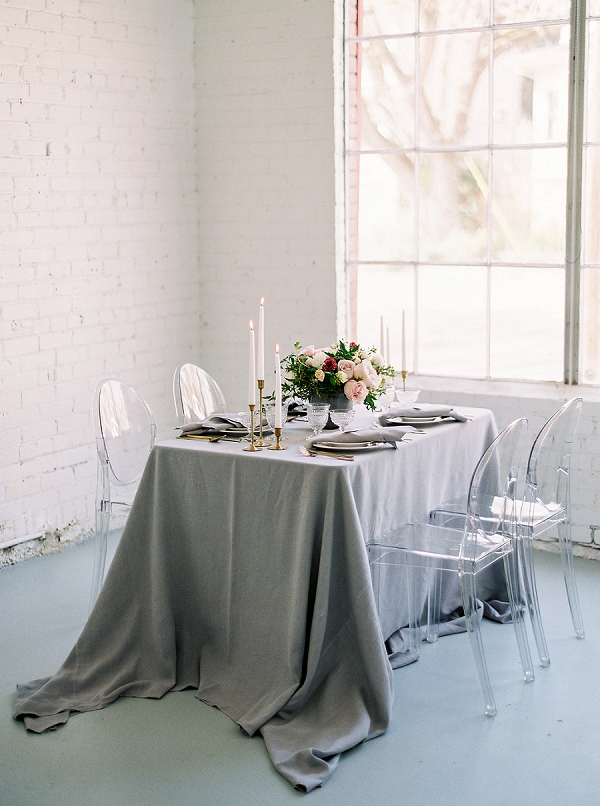 Stunning Tablescape with Ghost Chiavari Chairs | Modern Classic Wedding Ideas from Kristine Herman Photography