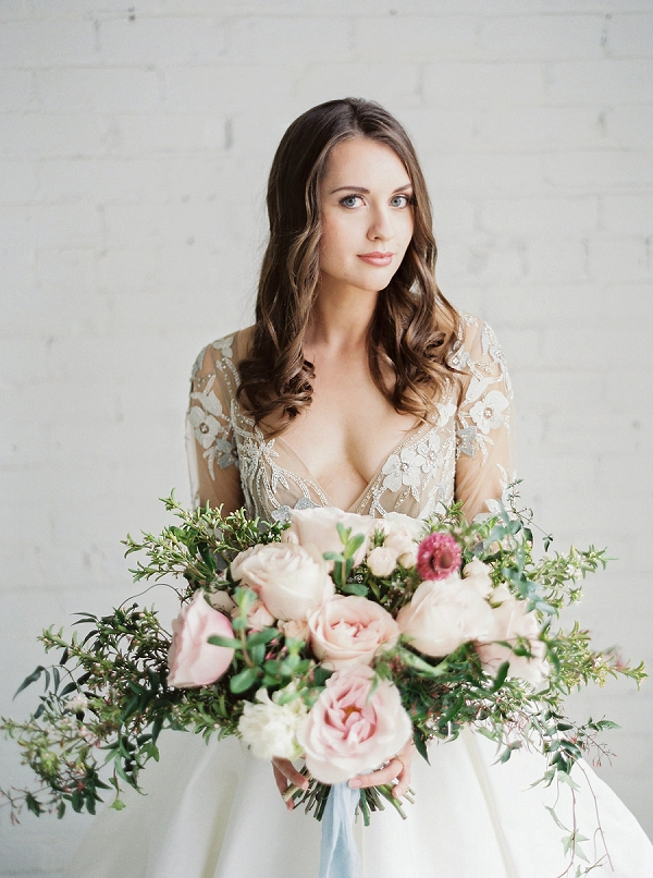 Bride with Bouquet | Modern Classic Wedding Ideas from Kristine Herman Photography