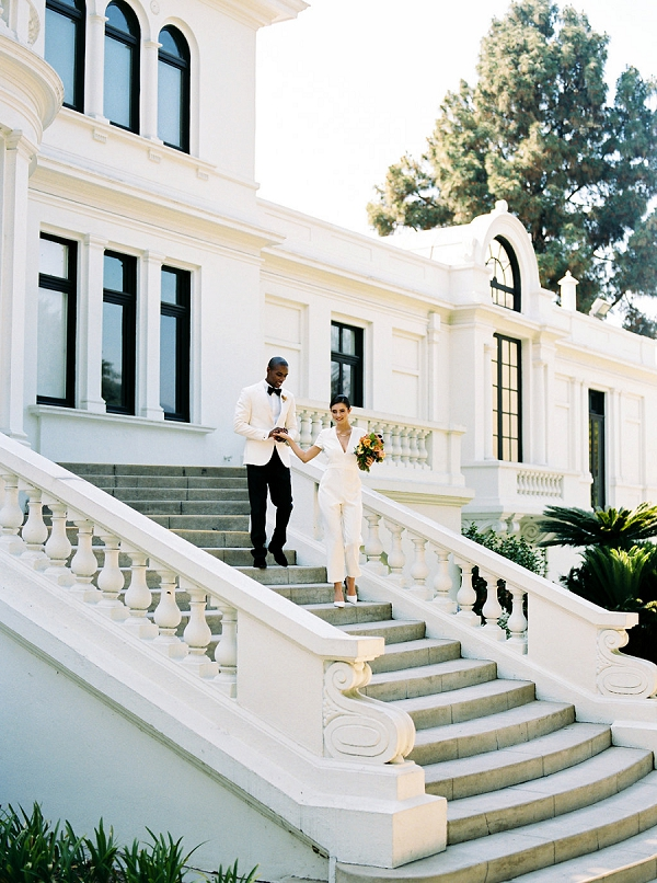 Modern Classic Bride and Groom | Modern Elopement Inspiration by Booth Photographics