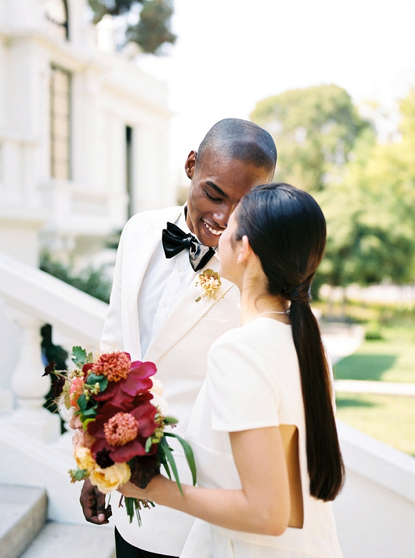Sleek Ponytail | Modern Elopement Inspiration by Booth Photographics