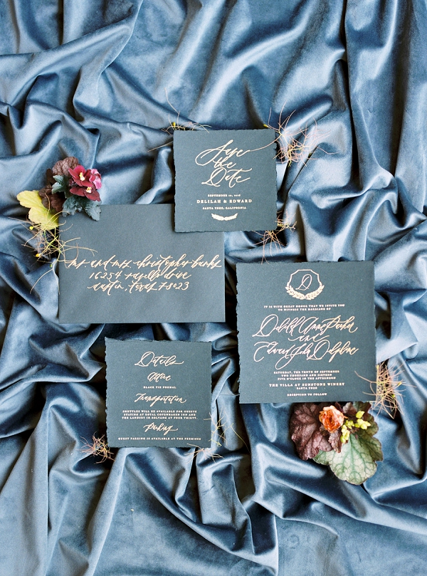 Modern Calligraphy Invitation Suite | Modern Elopement Inspiration by Booth Photographics