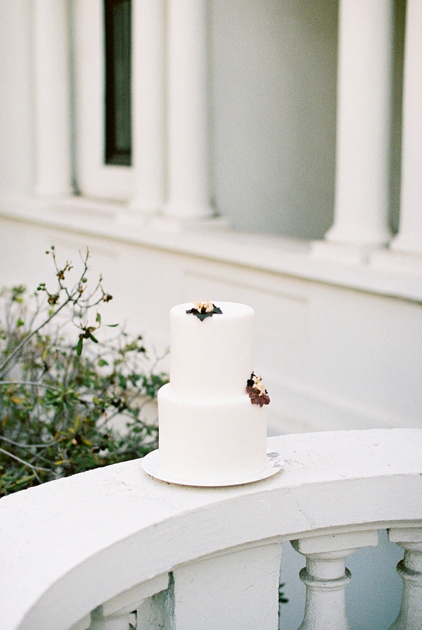 Two Tier Wedding Cake | Modern Elopement Inspiration by Booth Photographics