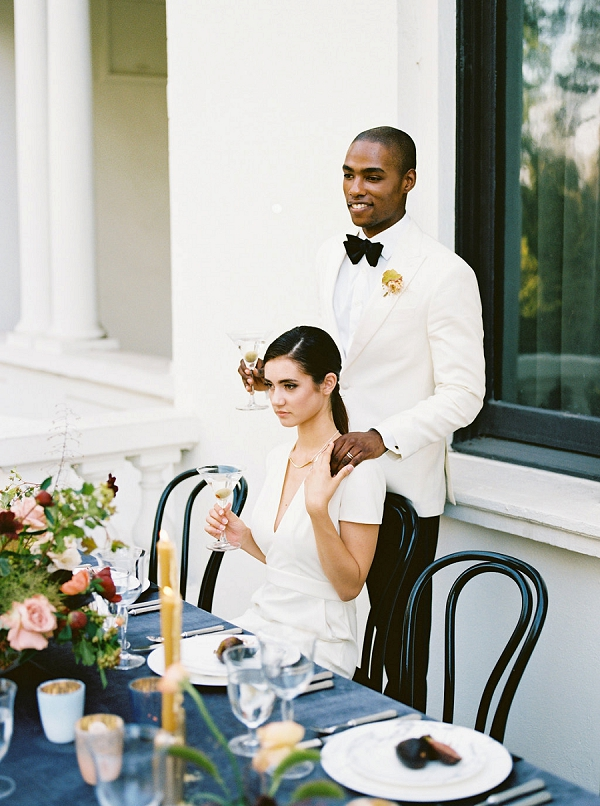Stylish Bride and Groom | Modern Elopement Inspiration by Booth Photographics