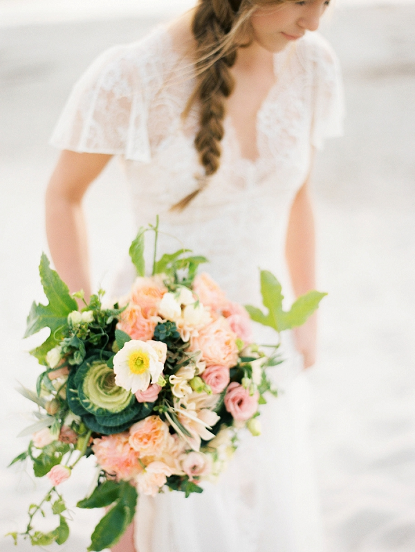 Organic Bouquet | Romantic Early Morning Bridal Inspiration by Kristin La Voie Photography