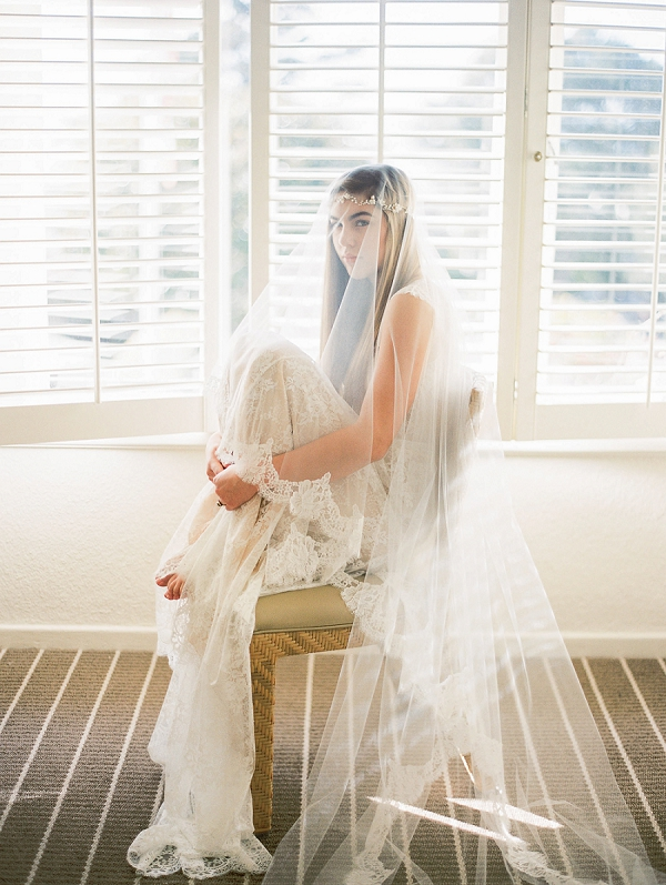 Lace Mantilla Veil | Romantic Early Morning Bridal Inspiration by Kristin La Voie Photography