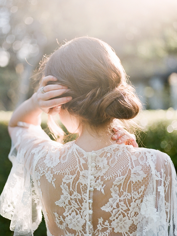 Bridal Chignon | Secret Garden Wedding Insiration by Kate Anfinson Photography and Natalie Choi Events