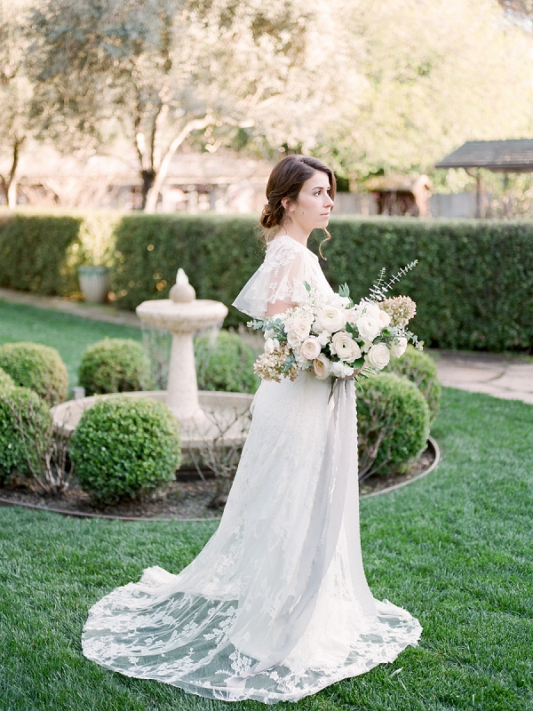 Bride with Ivory Bouquet | Secret Garden Wedding Insiration by Kate Anfinson Photography and Natalie Choi Events