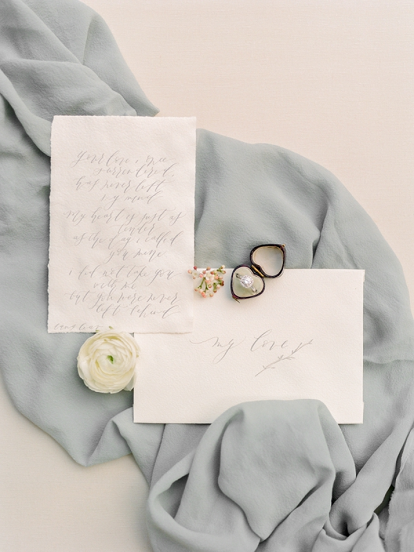 Calligraphy Wedding Stationery | Secret Garden Wedding Insiration by Kate Anfinson Photography and Natalie Choi Events