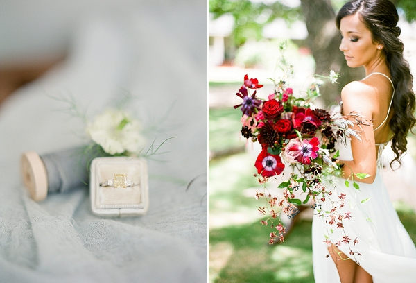 Red Bouquet | Tropical Estate Wedding Inspiration by ARIA Studios