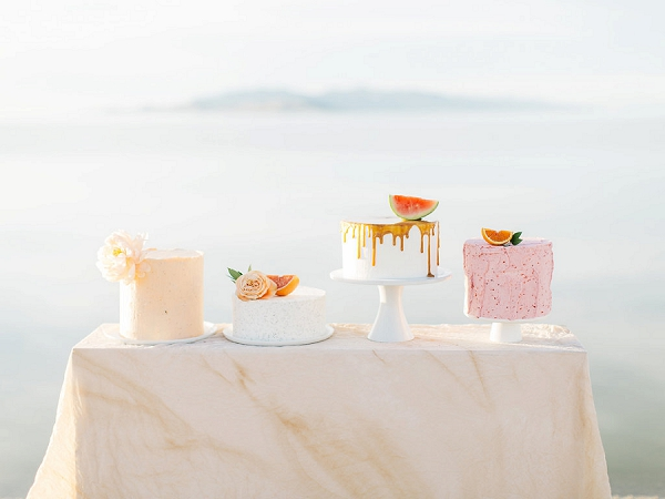 Wedding Cakes | Tropical Sunrise Coastal Editorial by Kenzie Victory Photography