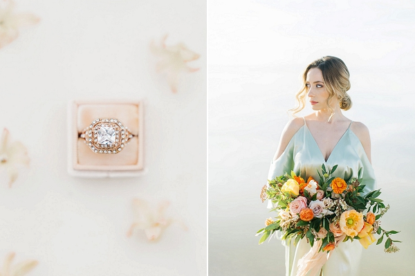 Wedding Ring | Tropical Sunrise Coastal Editorial by Kenzie Victory Photography