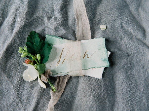 Calligraphy Place Cards | Villa Romance By Shannon Moffit Photography