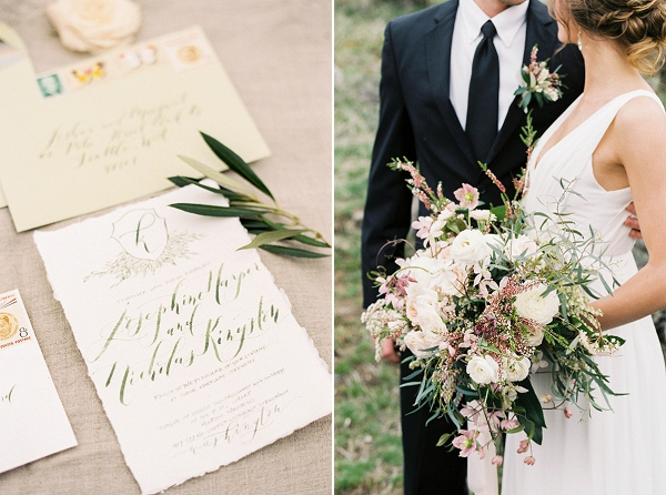 Calligraphy Invitations | Desert and Sage Organic Wedding Inspiration from Kerry Jeanne Photography